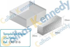 Acessórios para Dutos de Piso - Tampão de Isopor 25x70mm