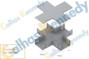 Acessórios para Eletrocalhas - Cruzeta Reta