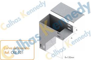 Acessórios para Eletrocalhas - Curva de Inversão