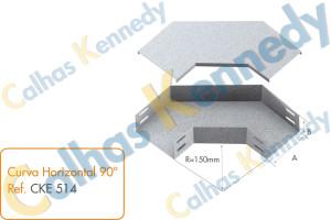 Acessórios para Eletrocalhas - Curva Horizontal 90
