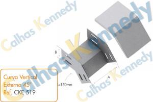 Acessórios para Eletrocalhas - Curva Vertical Externa 45