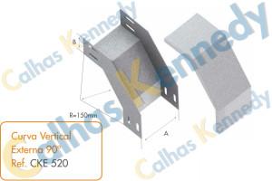Acessórios para Eletrocalhas - Curva Vertical Externa 90