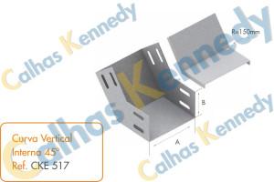 Acessórios para Eletrocalhas - Curva Vertical Interna 45