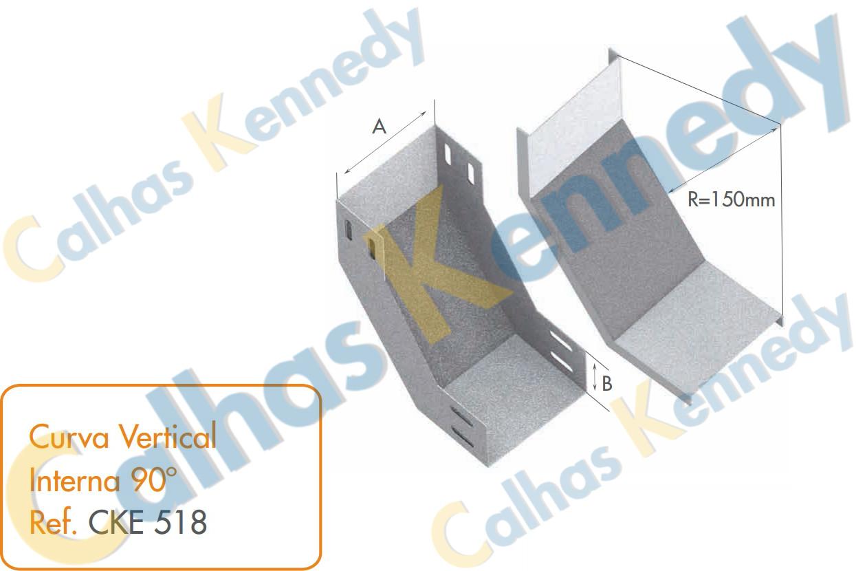 Acess rios para eletrocalhas eletrocalhas kennedy for Curva vertical exterior 90