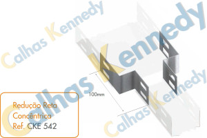 Acessórios para Eletrocalhas - Redução Reta Concêntrica