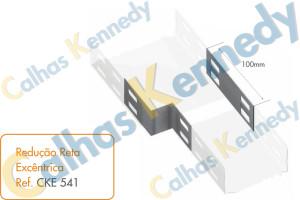 Acessórios para Eletrocalhas - Redução Reta Excêntrica