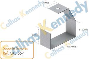 Acessórios para Eletrocalhas - Suporte Simples