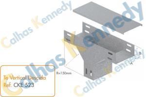 Acessórios para Eletrocalhas - Tê Vertical de Descida