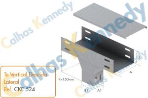 Acessórios para Eletrocalhas - Tê Vertical de Descida Lateral