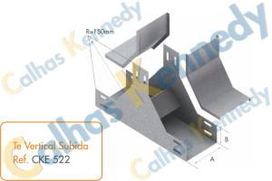 Acessórios para Eletrocalhas - Tê Vertical de Subida