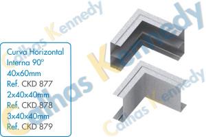 Acessórios para Calhas de Piso Duto BS - Curva Horizontal Interna 90