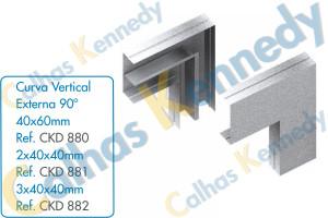 Acessórios para Calhas de Piso Duto BS - Curva Vertical Externa 90