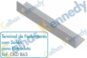 Acessórios para Calhas de Piso Duto BS - Terminal de Fechamento com Saída para Eletroduto