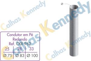 Acessórios para Calhas e Rufos - Condutor em Pé Redondo